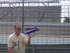 Skyy bottle racng an Indy car - Dean at the 500
