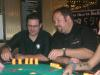 Jim Allison and Mike McClean - Mike's trying to give jim a little advice on the poker table.